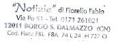 NOTIZIE di Fiorello Fabio